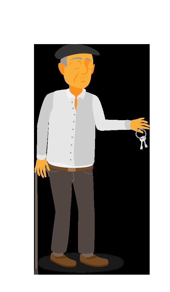 Juanjo muestra llaves